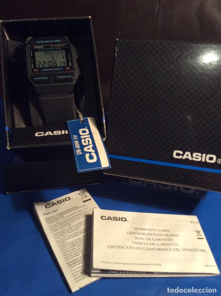 Relojes - Casio: RELOJ CASIO DB 80 ¡¡ DATA - BANK !! VINTAGE ¡¡NUEVO!! (VER FOTOS) - Foto 5 - 120034719