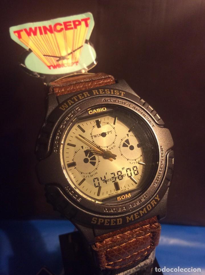 RELOJ CASIO AWX 10 ¡¡¡ TWIN-CEPT !!! VINTAGE ¡¡NUEVO!! (VER FOTOS) (Relojes - Relojes Actuales - Casio)