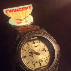 Relojes - Casio: RELOJ CASIO AWX 10 ¡¡¡ TWIN-CEPT !!! VINTAGE ¡¡NUEVO!! (VER FOTOS). Lote 120569171
