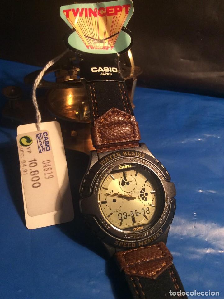 Relojes - Casio: RELOJ CASIO AWX 10 ¡¡¡ TWIN-CEPT !!! VINTAGE ¡¡NUEVO!! (VER FOTOS) - Foto 5 - 120569171