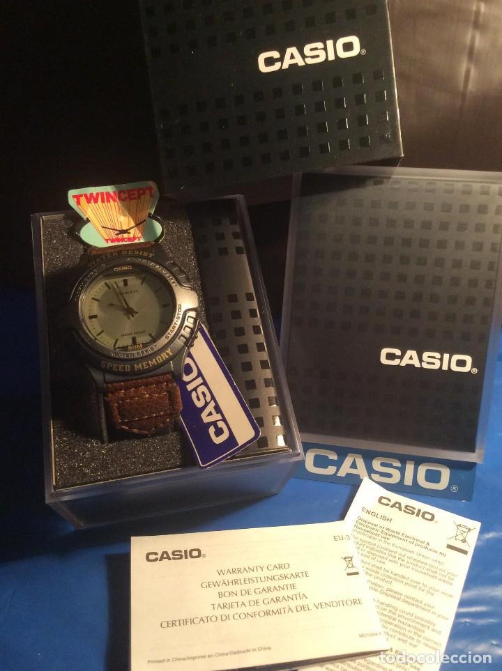 Relojes - Casio: RELOJ CASIO AWX 10 ¡¡¡ TWIN-CEPT !!! VINTAGE ¡¡NUEVO!! (VER FOTOS) - Foto 7 - 120569171