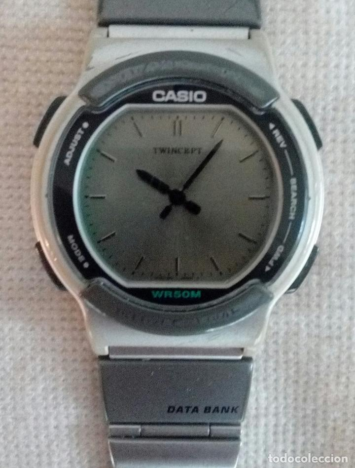 Reloj Casio Digital Vintage Twincept Data Bank Verkauft Durch