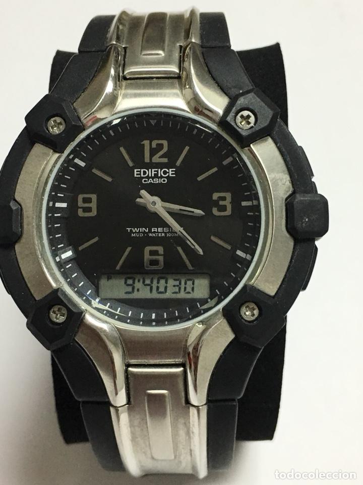 5d3106555058 Reloj Casio Edifice Twin resist AMW-200 analógico y digital modelo raro  para coleccionistas