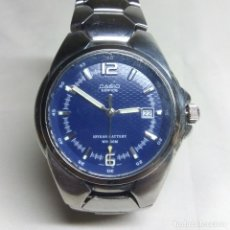 Relojes - Casio: RELOJ CASIO EDIFICE, CON CORREA ORIGINAL DE ACERO - 10 YEAR BATTERY, WR 100 M.. Lote 126973691