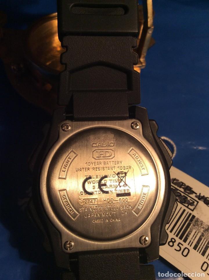 Relojes - Casio: RELOJ CASIO HDO 600 NEGRO ¡¡ BATERIA DE 10 AÑOS !! VINTAGE ¡¡ AÑOS 90 !! - ¡¡¡¡NUEVO!!!! - Foto 6 - 128678471