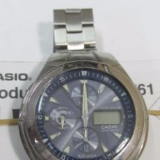 Relojes - Casio: RELOJ CRONÓGRAFO CASIO WAVE CEPTOR DE CARGA SOLAR. Lote 128726063