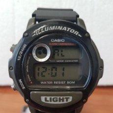 Relojes - Casio: RELOJ CABALLERO VINTAGE CASIO DIGITAL CAJA SILICONA Y TAPA DE ACERO, CORREA DE SILICONA NUEVA . Lote 129065151