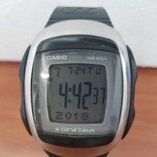 Relojes - Casio: RELOJ CABALLERO VINTAGE CASIO DIGITAL DATA BANK CAJA SILICONA Y TAPA DE ACERO, CORREA SILICONA . Lote 129163395