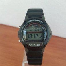 Relojes - Casio: RELOJ CADETE CASIO DIGITAL CAJA DE SILICONA, CORREA DE SILICONA NEGRA RELOJ NUEVO SIN USO DE STOCK. Lote 129182943