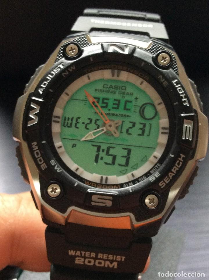 RELOJ CASIO AQW 101 ¡¡ FISHING GEAR !! - PESCA - ¡¡NUEVO!! (VER FOTOS) (Relojes - Relojes Actuales - Casio)