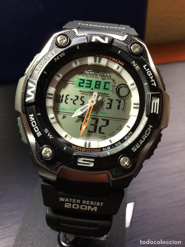Relojes - Casio: RELOJ CASIO AQW 101 ¡¡ FISHING GEAR !! - PESCA - ¡¡NUEVO!! (VER FOTOS) - Foto 3 - 129188183