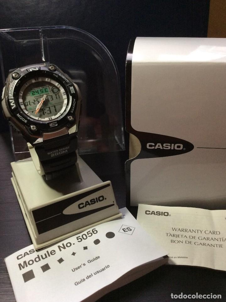 Relojes - Casio: RELOJ CASIO AQW 101 ¡¡ FISHING GEAR !! - PESCA - ¡¡NUEVO!! (VER FOTOS) - Foto 7 - 129188183
