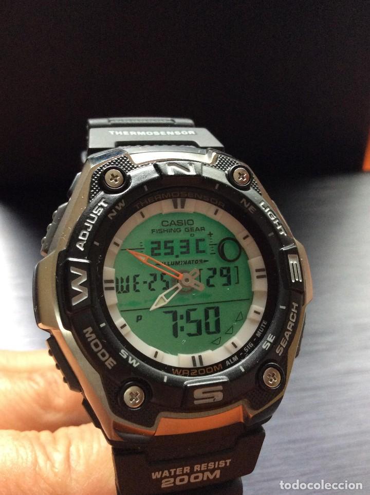 Relojes - Casio: RELOJ CASIO AQW 101 ¡¡ FISHING GEAR !! - PESCA - ¡¡NUEVO!! (VER FOTOS) - Foto 10 - 129188183