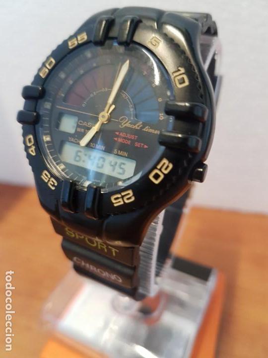 Relojes - Casio: Reloj caballero Vintage CASIO analógico digital caja silicona tapa de acero, correa silicona nueva - Foto 2 - 130064671
