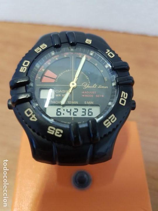 Relojes - Casio: Reloj caballero Vintage CASIO analógico digital caja silicona tapa de acero, correa silicona nueva - Foto 3 - 130064671