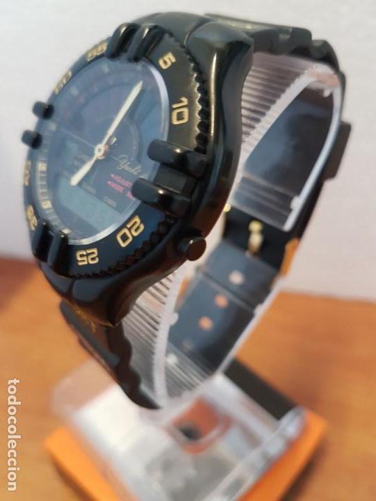Relojes - Casio: Reloj caballero Vintage CASIO analógico digital caja silicona tapa de acero, correa silicona nueva - Foto 4 - 130064671