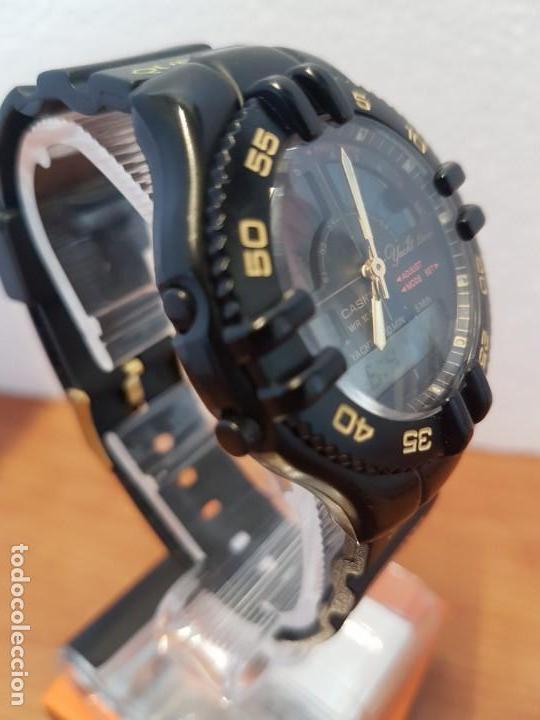Relojes - Casio: Reloj caballero Vintage CASIO analógico digital caja silicona tapa de acero, correa silicona nueva - Foto 7 - 130064671