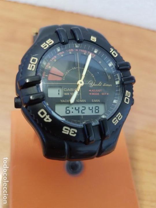 Relojes - Casio: Reloj caballero Vintage CASIO analógico digital caja silicona tapa de acero, correa silicona nueva - Foto 10 - 130064671