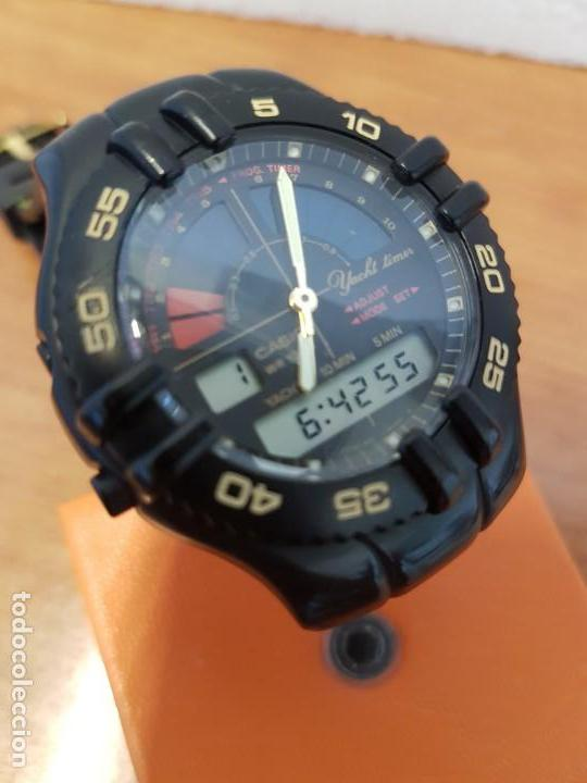 Relojes - Casio: Reloj caballero Vintage CASIO analógico digital caja silicona tapa de acero, correa silicona nueva - Foto 11 - 130064671
