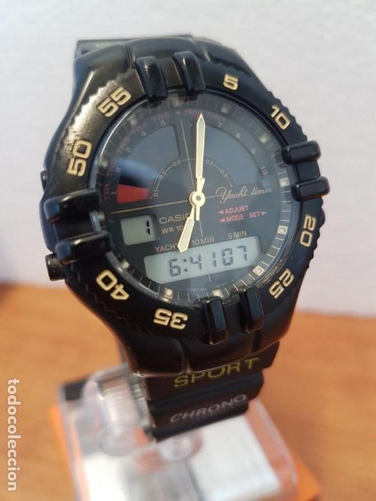 Relojes - Casio: Reloj caballero Vintage CASIO analógico digital caja silicona tapa de acero, correa silicona nueva - Foto 14 - 130064671