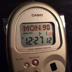 Relojes - Casio: RELOJ CASIO HBP 500 GOLD ¡¡TENSIOMETRO!! ¡¡ AÑO 90 ¡¡NUEVO!! VINTAGE !!!!! (VER FOTOS). Lote 180408928