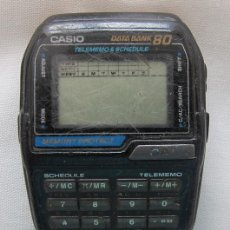 Relojes - Casio: RELOJ VINTAGE CASIO DATA BANK 80 TELEMEMO . Lote 133736438