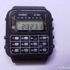 Relojes - Casio: RARO CASIO C-80 MODULO 133 PRIMERAS CALCULADORAS RELOJ CASIO DIGITAL LCD LEER DESCRIPCION. Lote 133840374