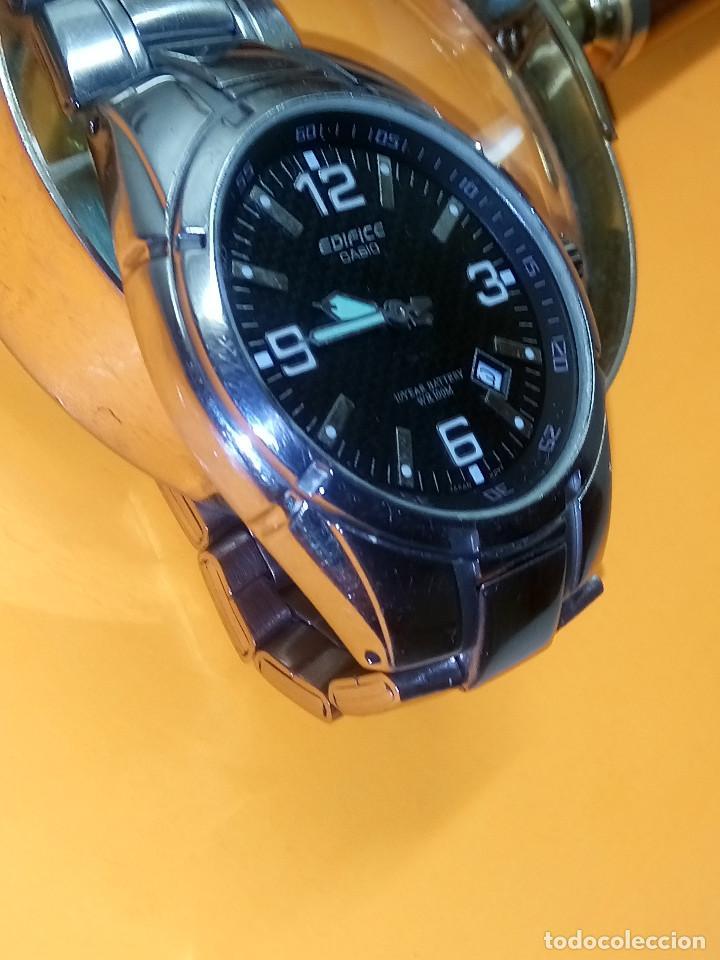 Relojes - Casio: CASIO - EDIFICE. FUNCIONANDO. ESFERA TESTURADA. 39.9 S/C. GRAN PIEZA DE ACERO MACIZO. INFO EN DESCR - Foto 2 - 140354242