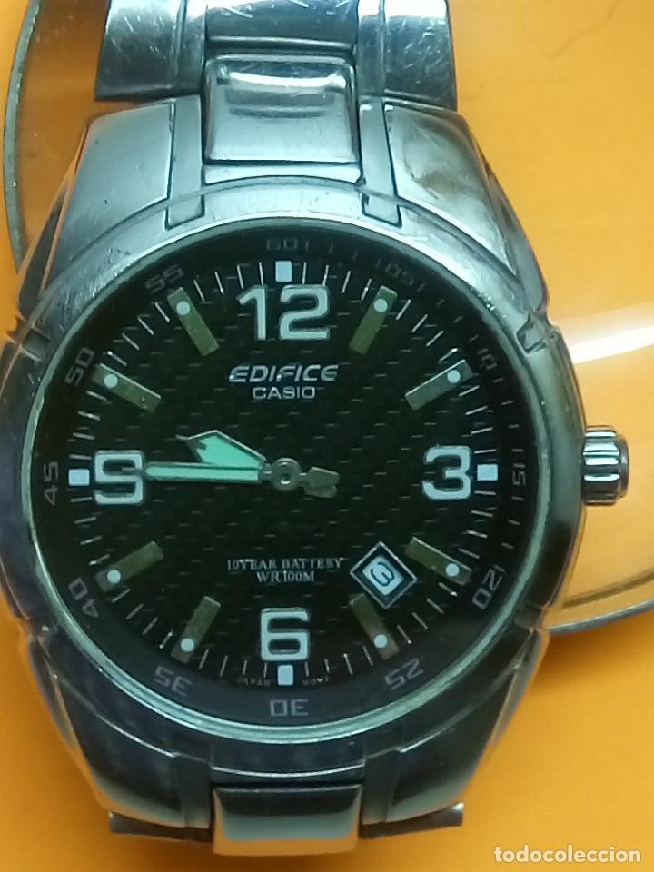 Relojes - Casio: CASIO - EDIFICE. FUNCIONANDO. ESFERA TESTURADA. 39.9 S/C. GRAN PIEZA DE ACERO MACIZO. INFO EN DESCR - Foto 3 - 140354242