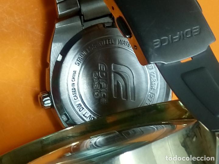 Relojes - Casio: CASIO - EDIFICE. FUNCIONANDO. ESFERA TESTURADA. 39.9 S/C. GRAN PIEZA DE ACERO MACIZO. INFO EN DESCR - Foto 6 - 140354242