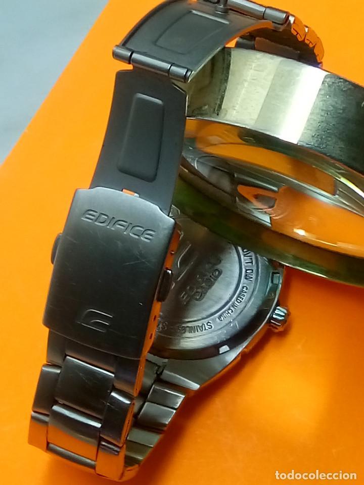 Relojes - Casio: CASIO - EDIFICE. FUNCIONANDO. ESFERA TESTURADA. 39.9 S/C. GRAN PIEZA DE ACERO MACIZO. INFO EN DESCR - Foto 7 - 140354242