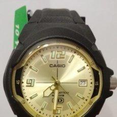 Relojes - Casio: RELOJ CASIO ESFERA DORADA ,WATER RESIST 100M. BATERÍA 10 AÑOS.NUEVO A ESTRENAR.. Lote 140654378