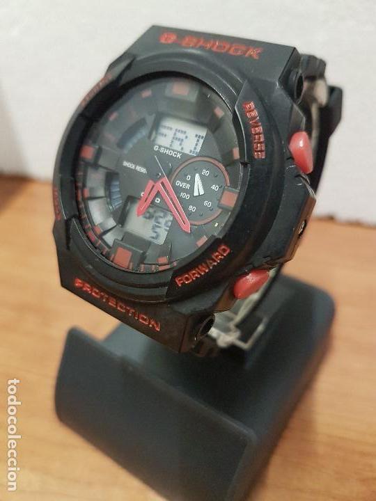 Relojes - Casio: Reloj caballero CASIO analogico y digital de caucho y tapa acero, correa de resina nueva sin uso - Foto 2 - 141471086
