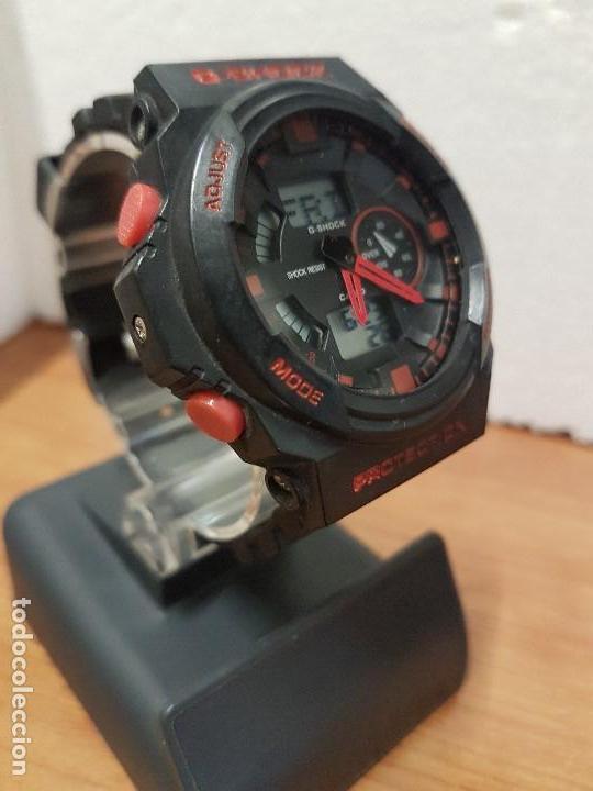 Relojes - Casio: Reloj caballero CASIO analogico y digital de caucho y tapa acero, correa de resina nueva sin uso - Foto 6 - 141471086