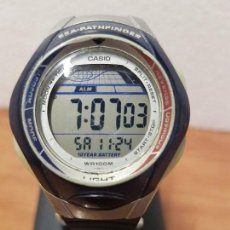 Relojes - Casio: RELOJ CABALLERO CASIO DIGITAL 2572 . SPS - 300 SEA. PATHFINDER CON CORREA SILICONA NUEVA SIN USO. Lote 141493406