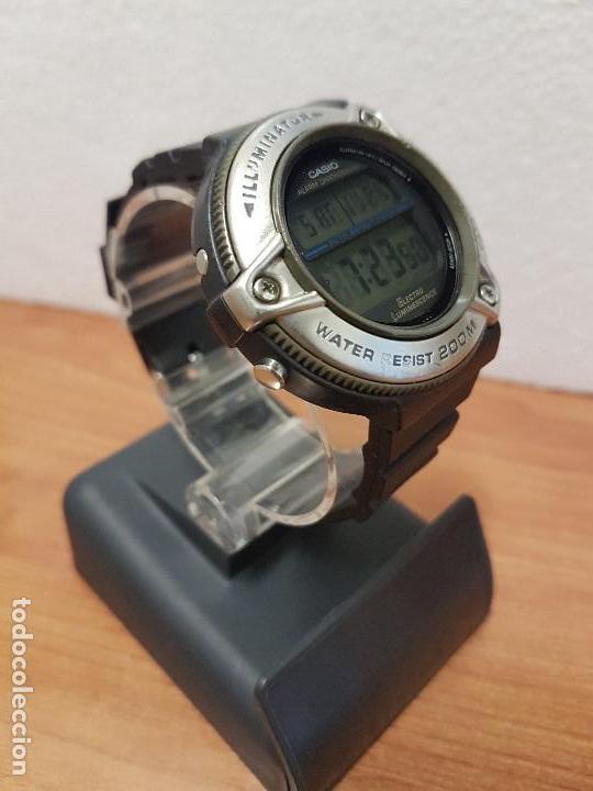 Relojes - Casio: Reloj caballero Vintage CASIO modulo 1874. DW-295 iluminator con correa silicona negra nueva sin uso - Foto 4 - 141499682
