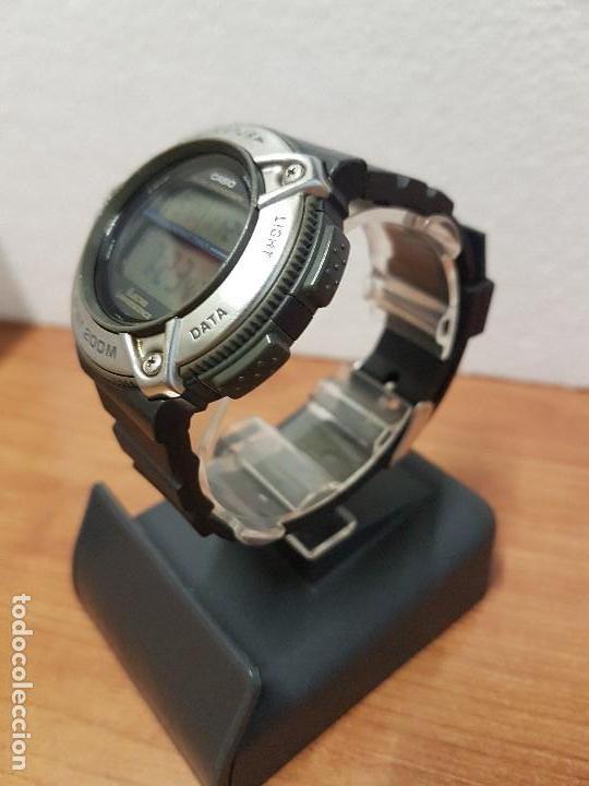 Relojes - Casio: Reloj caballero Vintage CASIO modulo 1874. DW-295 iluminator con correa silicona negra nueva sin uso - Foto 5 - 141499682