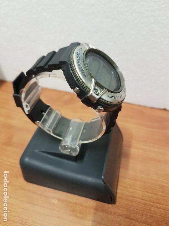 Relojes - Casio: Reloj caballero Vintage CASIO modulo 1874. DW-295 iluminator con correa silicona negra nueva sin uso - Foto 6 - 141499682