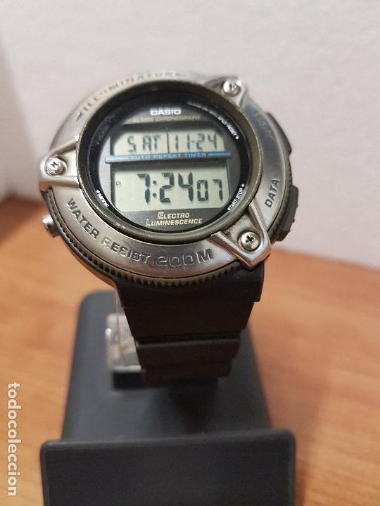 Relojes - Casio: Reloj caballero Vintage CASIO modulo 1874. DW-295 iluminator con correa silicona negra nueva sin uso - Foto 10 - 141499682