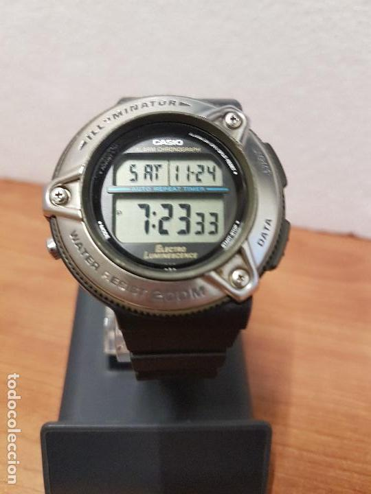Relojes - Casio: Reloj caballero Vintage CASIO modulo 1874. DW-295 iluminator con correa silicona negra nueva sin uso - Foto 18 - 141499682