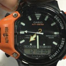 Relojes - Casio: RELOJ CASIO ALTI-METER WATER RESIST 100M 734-AW330 EN FUNCIONAMIENTO PARA COLECCIONISTAS. Lote 143195130
