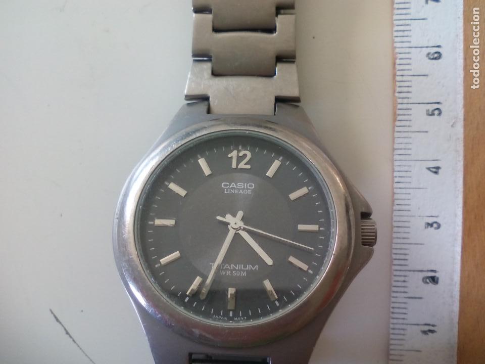 1e4fbfea7359 reloj de pulsera casio lineage. titanium wr 50 - Comprar Relojes ...