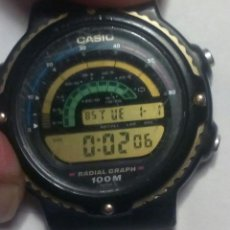 Relojes - Casio: RELOJ CASIO RADIAL GRAPH RGW-20, MODULO 918, WR 100M, MADE IN JAPAN.. Lote 144281554