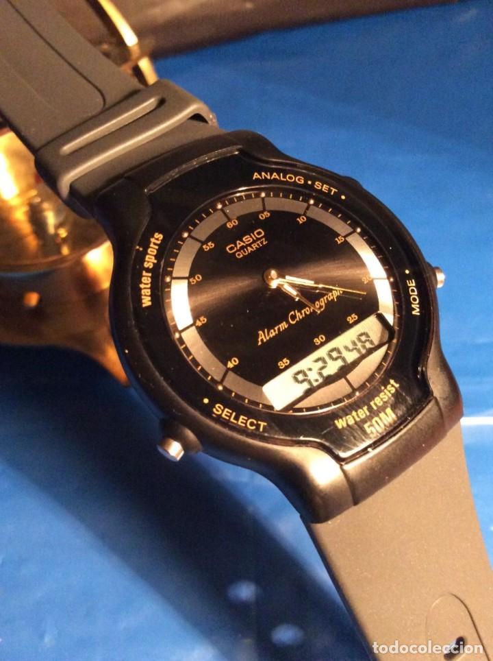 RELOJ CASIO AW 34 ¡¡ MUY PLANO !! VINTAGE AÑOS 90 ¡¡NUEVO!! (VER FOTOS) (Relojes - Relojes Actuales - Casio)