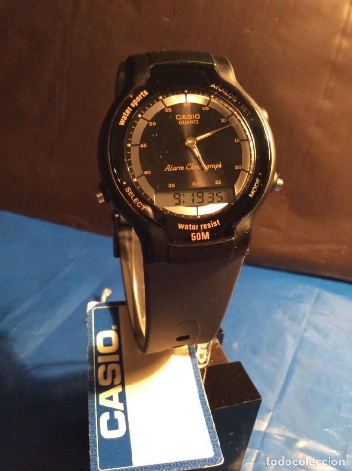 Relojes - Casio: RELOJ CASIO AW 34 ¡¡ MUY PLANO !! VINTAGE AÑOS 90 ¡¡NUEVO!! (VER FOTOS) - Foto 3 - 145198086