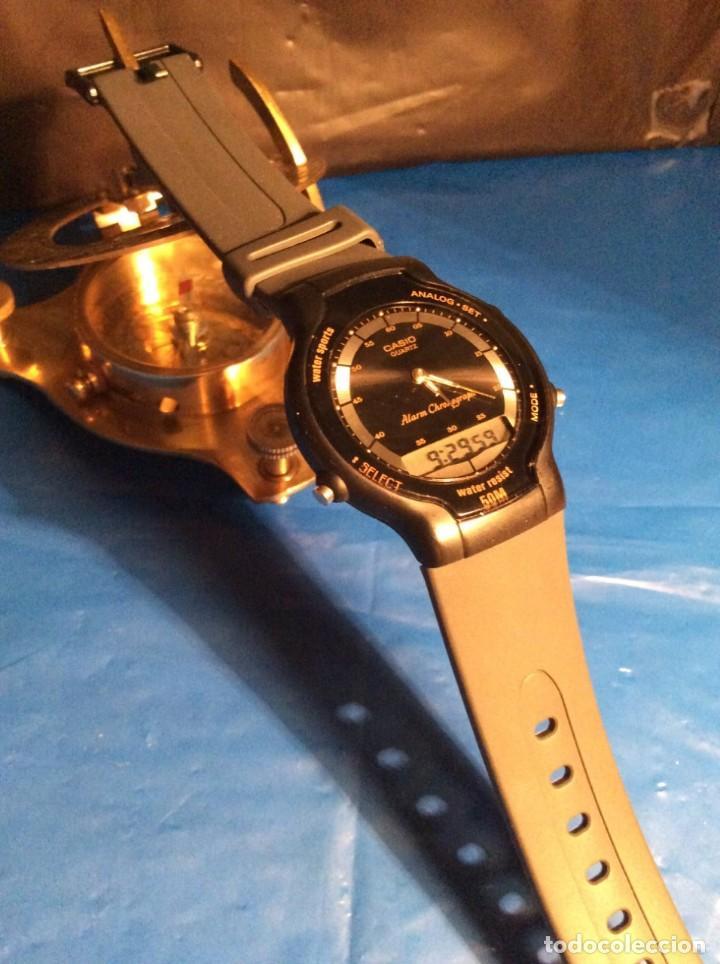 Relojes - Casio: RELOJ CASIO AW 34 ¡¡ MUY PLANO !! VINTAGE AÑOS 90 ¡¡NUEVO!! (VER FOTOS) - Foto 4 - 145198086