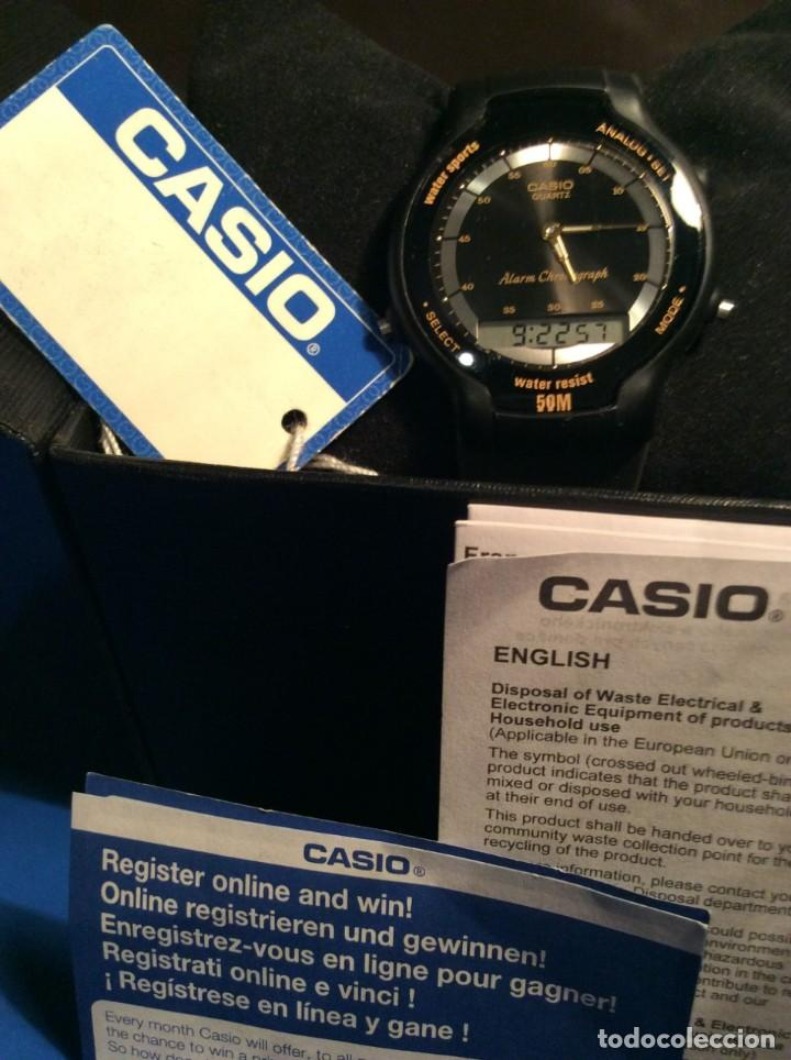 Relojes - Casio: RELOJ CASIO AW 34 ¡¡ MUY PLANO !! VINTAGE AÑOS 90 ¡¡NUEVO!! (VER FOTOS) - Foto 6 - 145198086