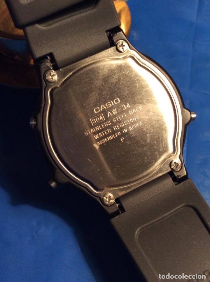 Relojes - Casio: RELOJ CASIO AW 34 ¡¡ MUY PLANO !! VINTAGE AÑOS 90 ¡¡NUEVO!! (VER FOTOS) - Foto 7 - 145198086