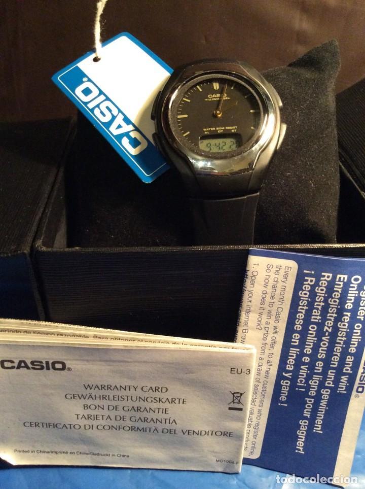 Relojes - Casio: RELOJ CASIO AW E10 ¡¡ MUY PLANO !! VINTAGE AÑOS 90 ¡¡NUEVO!! (VER FOTOS) - Foto 8 - 145198302