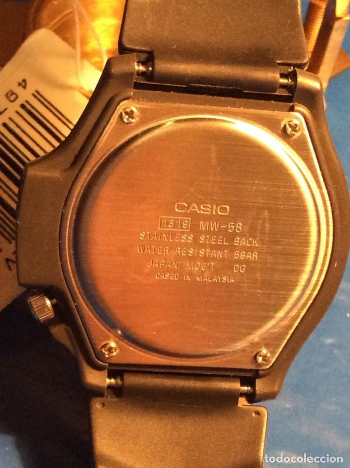 Relojes - Casio: RELOJ CASIO MW 58 ¡¡ ILUMINATOR VINTAGE AÑOS 90 !! ¡¡NUEVO!! (VER FOTOS) - Foto 5 - 145199550